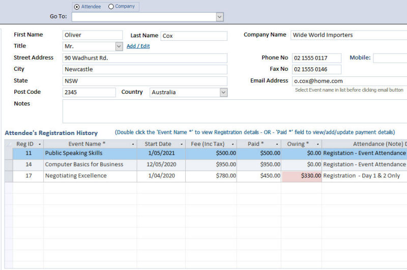 Events Management Software 3.00 full